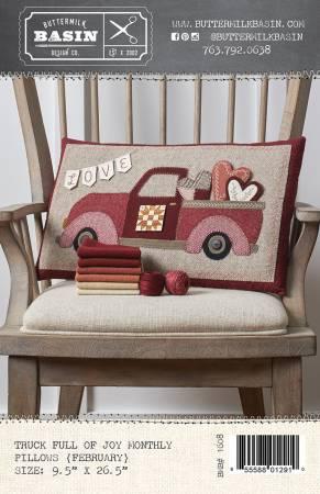 Truck Full of Joy Monthly Pillows February