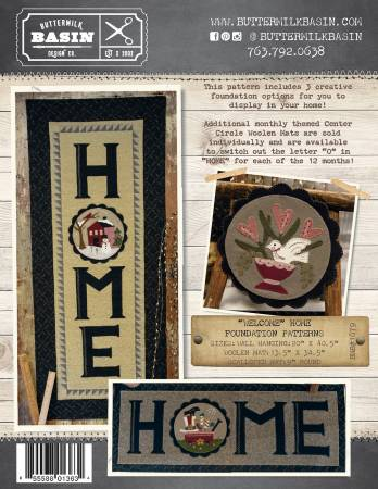 Welcome Home Wall Hanging & Wool Mat Foundations