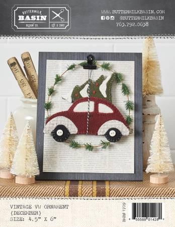 Vintage December VW Ornament