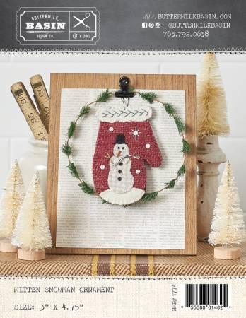 Mitten Snowman Ornament
