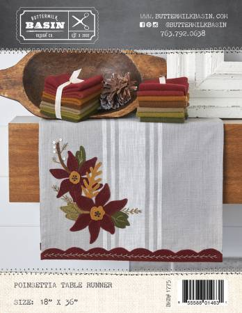 Poinsettia Table Runner Wool Kit