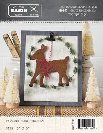 Vintage Deer Ornament