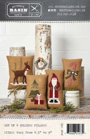 Set of 4 Medium Holiday Pillows