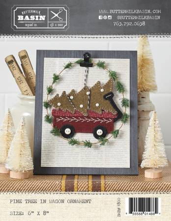 Pine Tree in Wagon Ornament