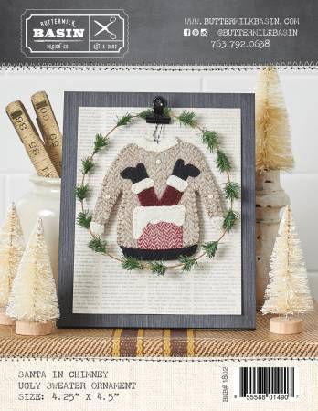 Santa in Chimney Ugly Sweater Ornament