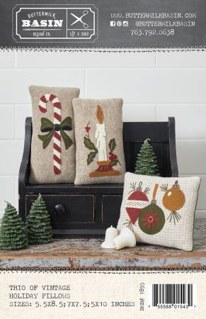 Trio of Vintage Holiday Pillows
