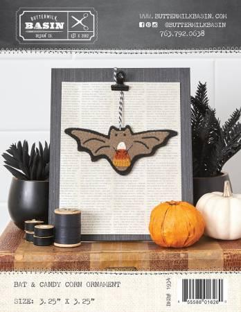 Bat and Candy Corn Ornament
