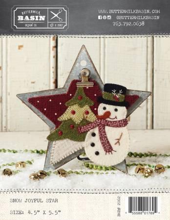 Snow Joyful Star Ornament Wool Applique Kit