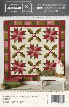 Poinsettias & Holly Leaves Quilt
