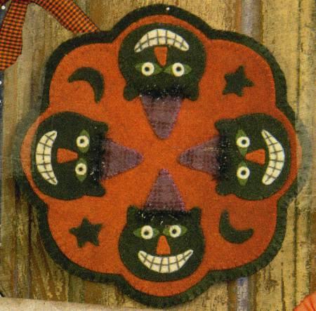 Spooky Cat Candle Mat