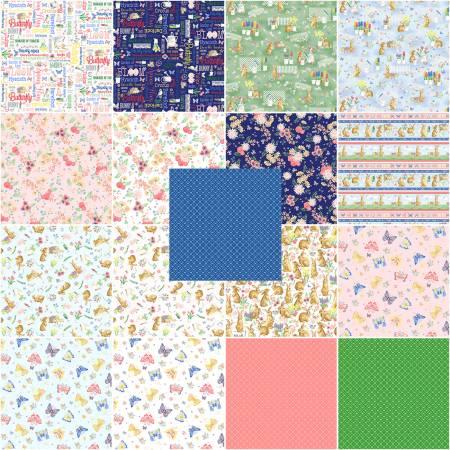 10in Squares Bunnies & Blossoms, 42pcs/bundle