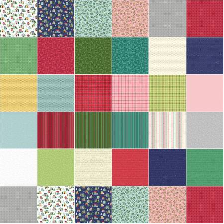 Benartex Better Not Pout 5 Squares 42 Pieces From Art to Heart/Nancy Halvorsen