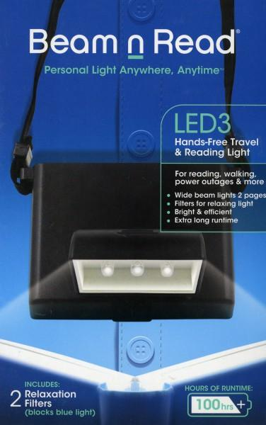 Beam N Read LED 3 Hands Free Travel and Reading Light