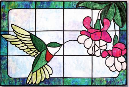Hummingbird Sipper Pattern in Stained Glass by Bear Paw Prod