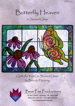 Butterfly Heaven - Quilt As You Go Stained Glass Pattern by Bear Paw Productions