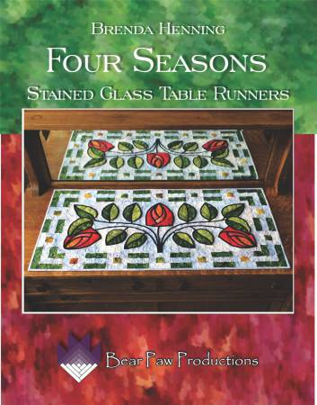 Four Seasons Stained Glass Table Runners - Softcover