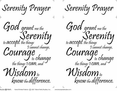 Serenity Prayer 18in x 20in Panel White (146)