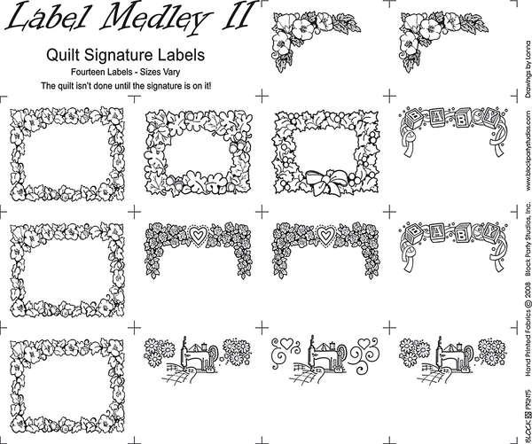 Medley Labels 2 18in x 20in Panel Natural With Black Writing