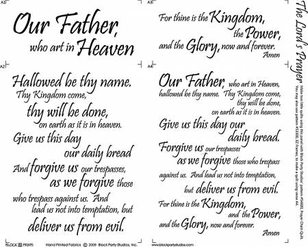 Block Party - The Lord's Prayer Panel White