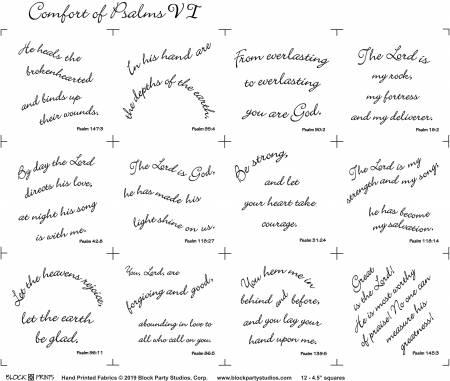 Comfort of Psalms 6 Panel White (145)