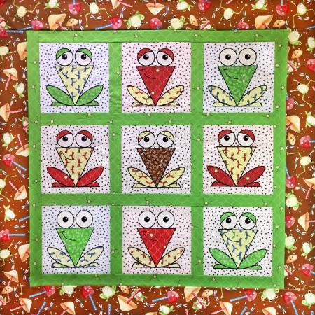 Pattern A Chorus of Frogs Machine Embroidery CD
