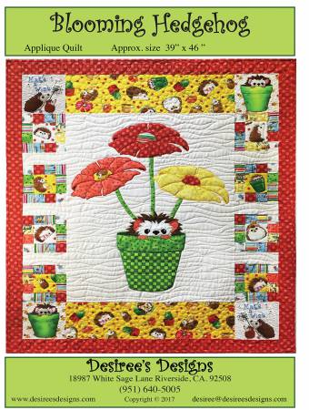 BQ-14 Blooming Hedgehog Applique Quilt
