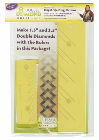 Double Diamond Ruler 1-1/2in & 3-1/2in