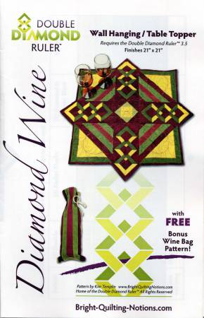 Diamond Wine Wall Hanging & Table Topper