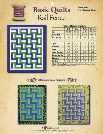 Basic Quilts - Rail Fence