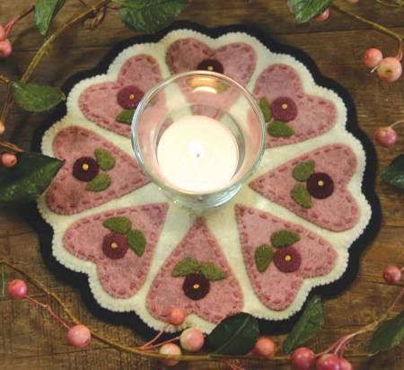 :Kit Candle Mat Hearts and Flowers