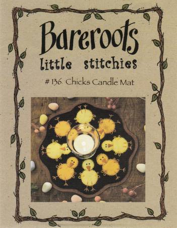Little Stitchies - Chicks Candle Mat