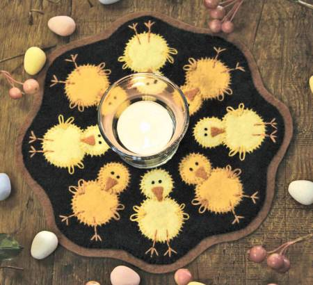Kit Candle Mat Chicks w/ pattern