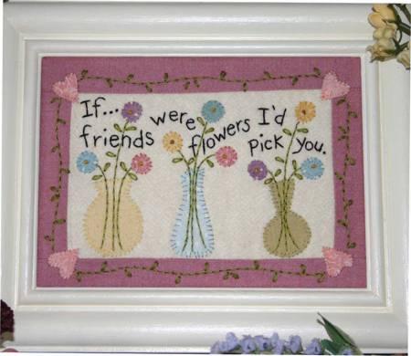 Little Stitchies - Friends & Flowers Stitchery