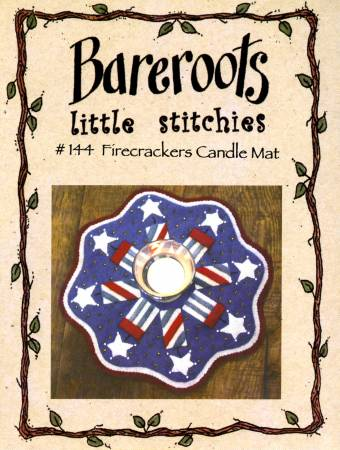 Little Stitchies - Firecrackers Candle Mat