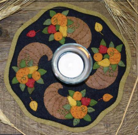 Horn of Plenty Candle Mat Kit and Pattern