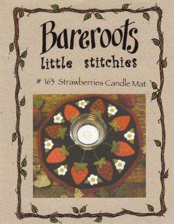 Little Stitchies - Strawberries Candle Mat Kit