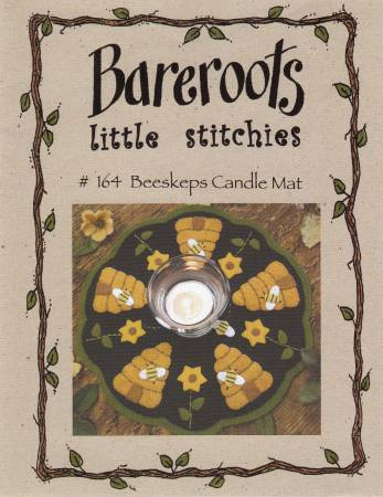 Little Stitchies - Beeskeps Candle Mat