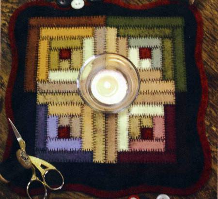 Little Stitchies - Log Cabin Candle Mat Kit