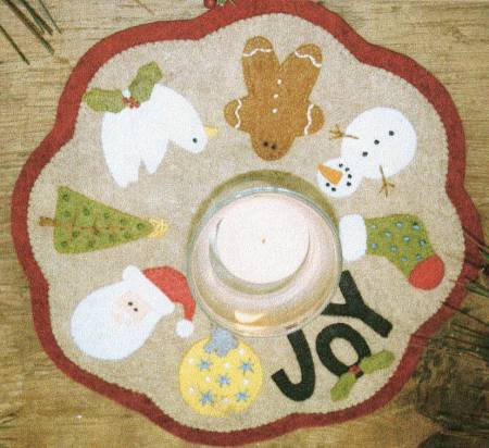 Little Stitches - Christmas Candle Mat Kit