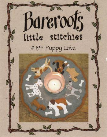 Little Stitchies - Puppy Love Candle Mat Pattern