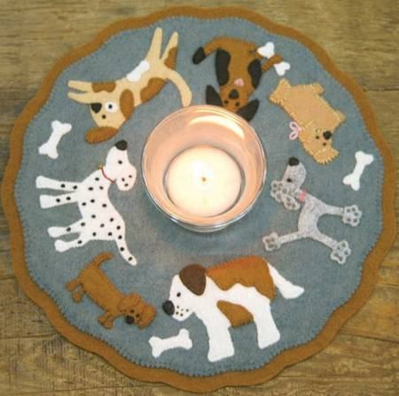 Candle Mat Puppy Love