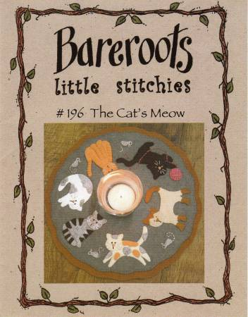 Little Stitchies - Cats Meow Candle Mat Kit