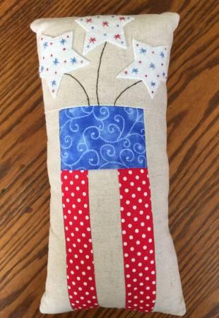 Little Firecracker Pillow Fabric and Floss Kit