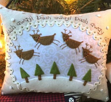 Dash Away Little Pillow Fabric Kit