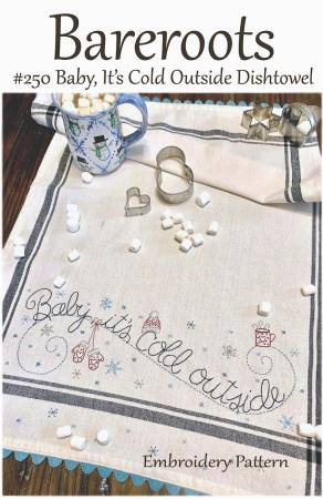 Baby It's Cold Outside Embroidery Dishtowel Pattern