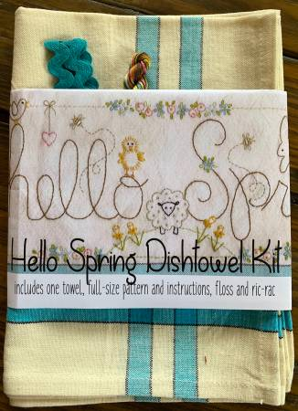 Hello Spring Dishtowel Kit