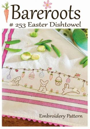 Easter Embroidery Dishtowel Kit by Bareroots 253