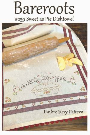 Bareroots - Sweet as Pie Dishtowel Embroidery Pattern
