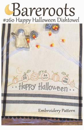 Happy Halloween Dishtowel Embroidery Pattern