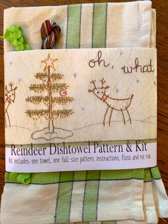 Oh! What Fun Dishtowel Pattern and Floss Kit